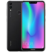 Huawei Honor 8C, Dual 4G, 4GB+32GB, Dual AI Back Cameras, 4000mAh Battery, Face ID & Fingerprint Identification, 6.26 inch EMUI 8.2 (Android 8.1)  Qualcomm Snapdragon 632 Octa Core, 4 x Kryo Gold 1.8GHz + 4 x Kryo Silver 1.8GHz, Network: 4G(Black)