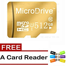 High Speed Micro SD Card Class10 TF Card 64GB 128GB 256GB 512GB Memory Card-Red