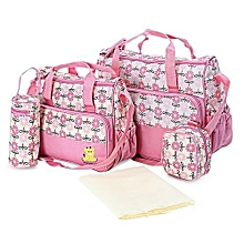 5 Piece Diaper/ baby bag - Pink .