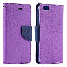 Bluelans Leather Wallet Case For IPhone 6/6S (Purple)
