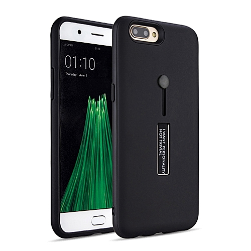buy popular f9484 4106e OPPO R11 Plus Case,Dual Layer PC+TPU Durable Slim Fit Case with Stand and  Anti Drop Finger Strap Multi-Function Protective Cover for OPPO R11 Plus ...