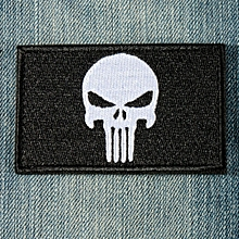 PUNISHER SKULL SWAT OPS ARMY MILITARY TACTICAL MORALE PATCH ARMY GREEN