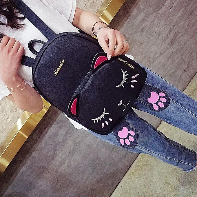 ... Cat Bag Students Girls Back Pack School Backpacks Funny Shoulder Travel  Bag BK ... df04a00b84204