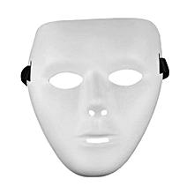 Cosplay Halloween Festival White Full Face Dance Costume Mask for Men Women