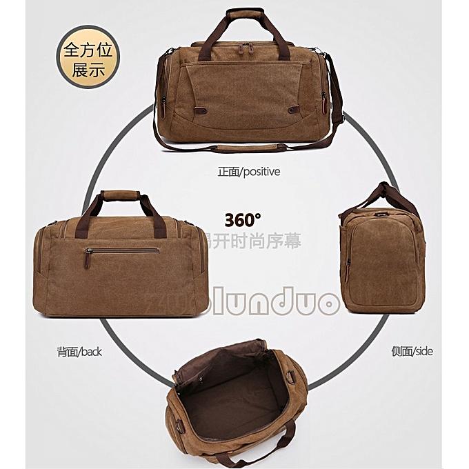 8b9fdf79c329 ... Unisex casual canvas travel duffle bag large capacity storage hand  luggage weekender bag ...