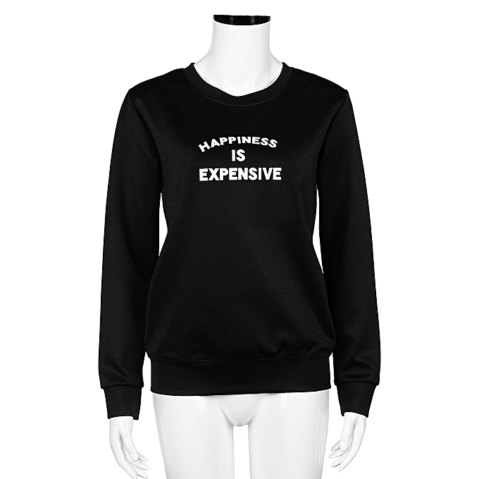 46e6b287ffc5c8 Xingbiaocao Women Loose Pullover T Shirt Long Sleeve Tops Shirt Blouse S  -Black