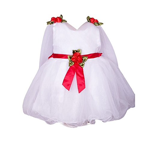1072fb6e817 Generic Baby Girl White Lace Dress Formal Pageant Wedding Party Christening  Gown