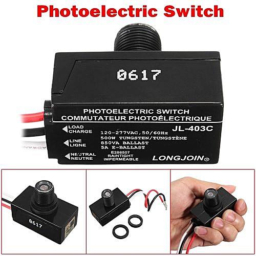 mini dusk to dawn photocell automatic led light control sensor switch ac120~ 277v