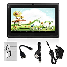 7-Inch 1024*600 Screen UK Plug Children Tablet PC Quad-Core 512MB+8GB Pad black