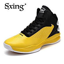 Men's Basketball Shoes Sneaker Trending Style Curry 2 Light PU Basketball Sport Boots Sneakers For Male Shoes Yellow