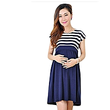 Stripped Maternity dress – blue