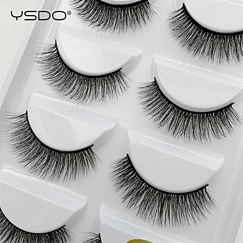 9385da825e3 Generic 5 pairs mink eyelashes natural long makeup 3d mink lashes false  eyelashes 3d soft fluffy lashes cilios mink volume lashes(G805A)