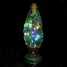 Solar Wine Bottle Cork Shaped String Light 10 LED Night Fairy Light Lamp MR