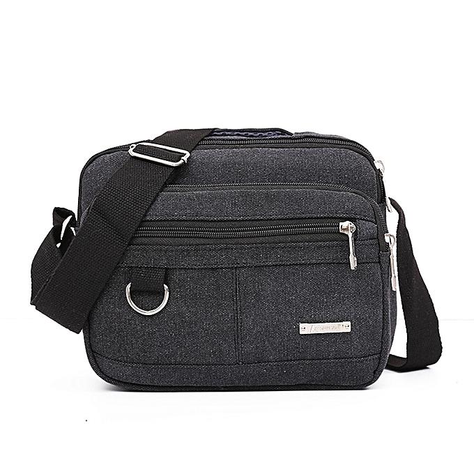 7a3ef4cc917 Hiamok Men Canvas Bag Casual Travel Men s Crossbody Bag Men Messenger Bags  BK