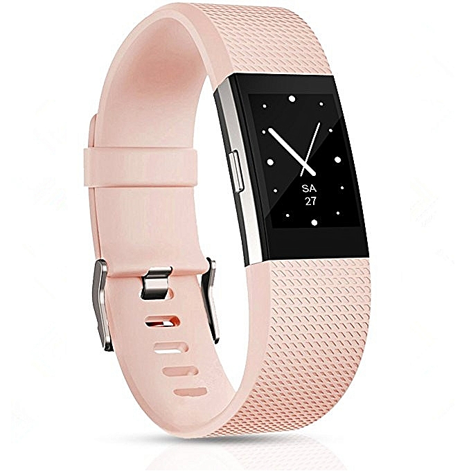 Square Pattern Adjustable Sport Wrist Strap for FITBIT Charge 2 (Light Pink)