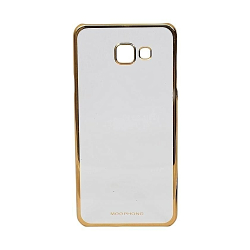 cheaper 9a443 2f60a Clear Back Cover For Samsung Galaxy J7 Prime - Clear & Gold Sided