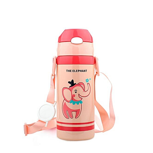 ef9613a0f74 Generic 400ml Portable Child Straw Vacuum Flasks Cute Animal Stainless Steel  Kids Thermos Mug Thermal Water Bottle BPA Free Nice Gifts