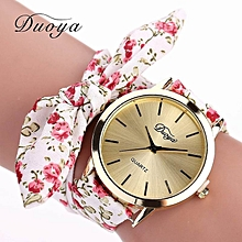 DUOYA D025 Women Wrap Around Floral Quartz Wrist Watch - MULTI-C