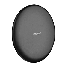 Fast Wireless Charger for iPhone X 8 Plus Quick Charge QI Wireless Charger Pad Ultra Slim Mobile Phone Charger for Galaxy S8 - Black