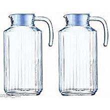2 Pcs of Glass Jugs with Lids