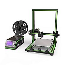 E10 Aluminum Frame Multi-language 3D Printer DIY Set US Plug - Green