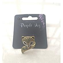 Beautiful Fox Ring Size L Purple Ivy.