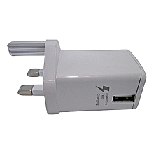 Double charge flash charger - White
