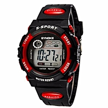 Fashion Famous Sport LED Digital Watches Top Brand Men Wrist Watch Male Electronic Clock Digital-watch(Red)