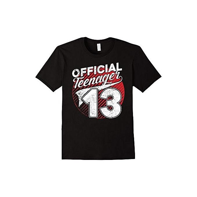 Teenager 13th Birthday 13 Yrs Old Shirt Fashion O Neck Short Sleeved T Shirts