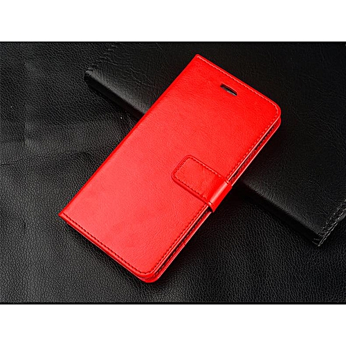 new arrivals cfd3a b8d8c Leather Flip Cover Wallet Cover Case For Samsung Galaxy A6+ 2018 / A6 Plus  2018 / A9 Star Lite