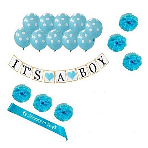 Generic Its A Boy Baby Shower Decoration 1st Birthday Party Balloon Banner Decration