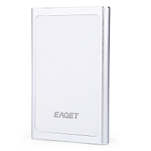 G90 Portable USB 3.0 Metal External Hard Drive 500GB With Encryption Function - Silver White