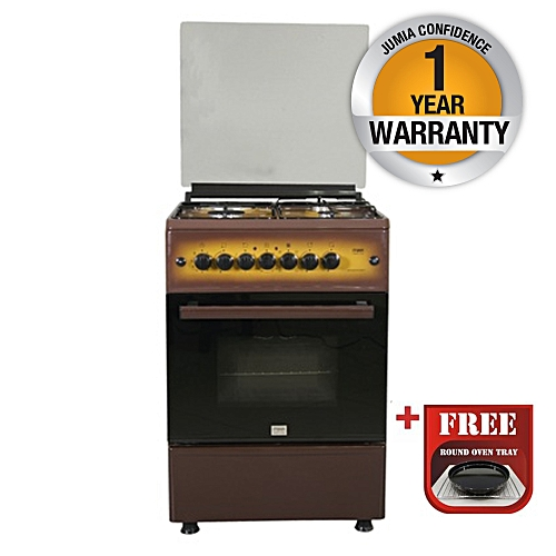 MST60PIAGDB/EM - Standing Oven, 4Gas Burners, Brown