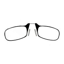 Ultra Thin High-definition Nose Resting Pocket Presbyopic Hypermetropic Reading Glasses, +2.50d (black)