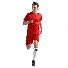 2018 Brand Customized Fashion Men's Football Team Training Soccer Jersey Set-Red