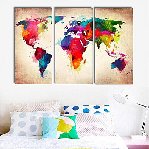 Generic Canvas Prints Unframed Picture Wall Art Abtract World Map