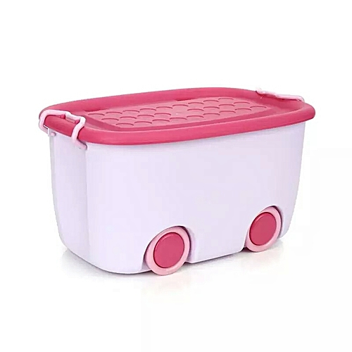 Multifuction Stackable Toy Storage Box With Wheels   Purple