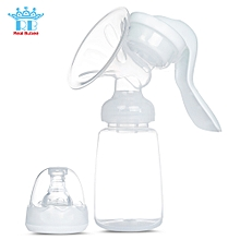 Manual Breast Pump Baby Breastfeeding Milk Bottle - White