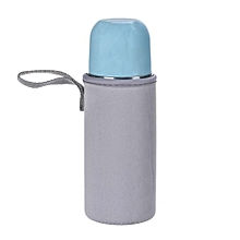 Clear Plastic Water Cup Bottle Portable Bag Gray-Gray