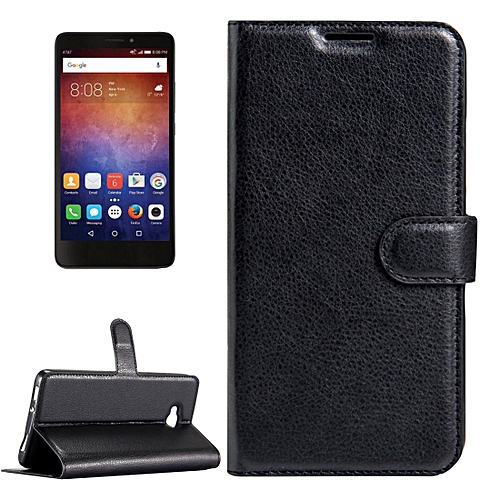 half off b2644 38b61 For Huawei Ascend XT / H1611 Litchi Texture Horizontal Flip Leather Case  with Magnetic Buckle & Holder & Card Slots & Wallet (Black)