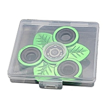 Green Leaves Triangle Hand Spinner Durable Finger Toy for Children&Adults