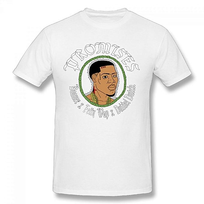 Fetty Wap Men's Cotton Short Sleeve Print T-shirt White