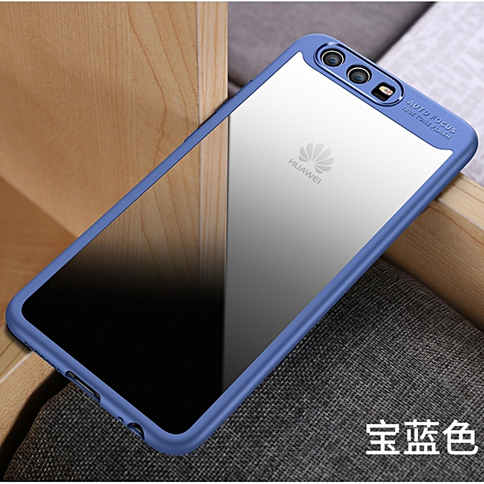 Hawkeye Slim Anti Slip Soft TPU + Crystal Clear Acrylic PC Transparent Back  Cover Case For Huawei P8 Lite / Honor 8 Lite / GR3