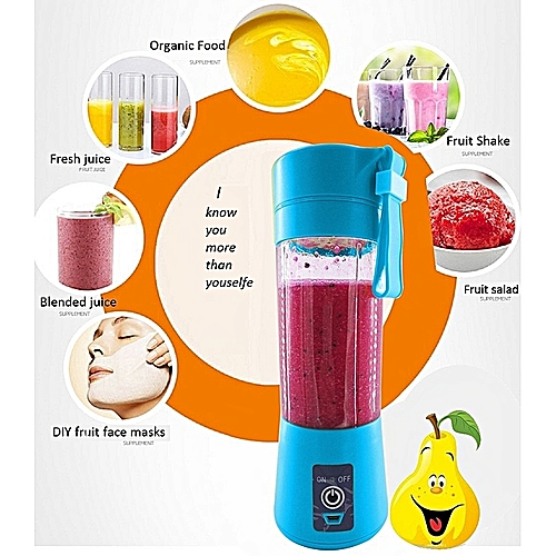 Rechargable Mini USB Blender Portable Juicer - Blue