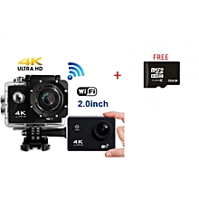 1080P Sports Action Camera - Waterproof + 32GB SD - Black