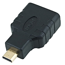 HDMI Female to Micro HDMI Male F/M Converter Adapter Connector HD TV Camera