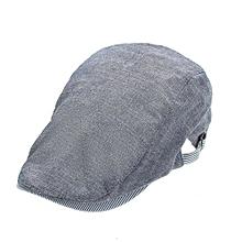New Mens Women Cotton Ivy Cap Newsboy Beret Cabbie Gatsby Flat Golf Driving Hat Blue