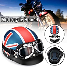 Universal Motorcycle Half Face Crash Helmet Vintage Goggles Motorbike Motocross