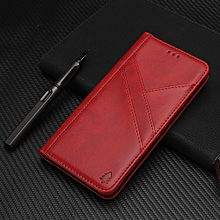 Splicing Horizontal Flip PU Leather Case for iPhone XS Max, with Holder & Card Slots & Wallet & Photo Frame(Red)