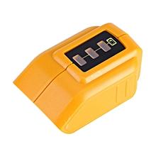 Dual USB Outlet Mobile Phones Li-ion Battery Charger Adapter Fit For 14.4V 18V 20V DCB090